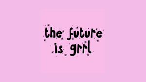 The future is grrl computer wallpaper-01